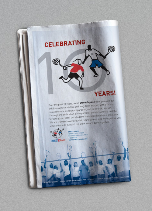 StreetSquash Print Advertisement
